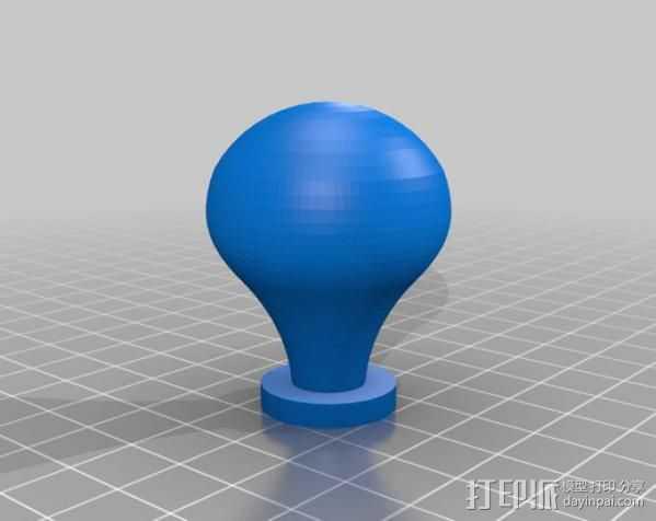 台灯灯泡 3D打印模型渲染图