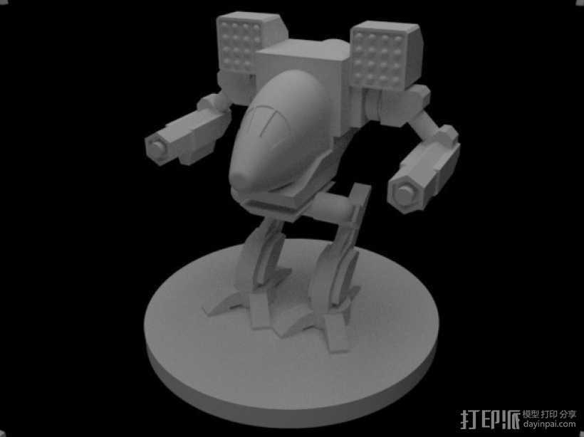 Madcat疯猫机器人 机甲战士  3D打印模型渲染图