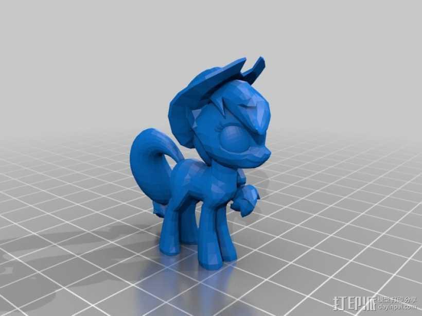 我的小马驹 小马驹模型 3D打印模型渲染图