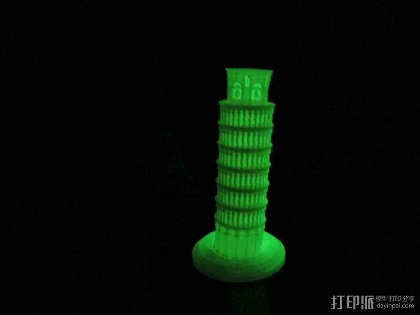 比萨斜塔 3D打印模型渲染图