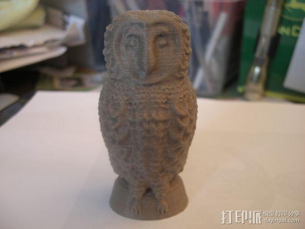 仓鸮 3D打印模型渲染图