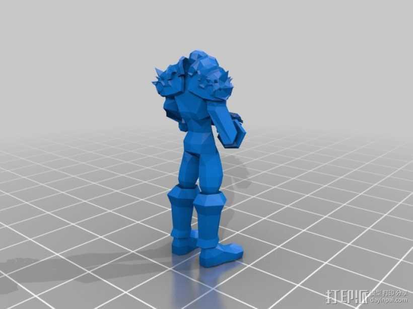 巨剑骑士 3D打印模型渲染图