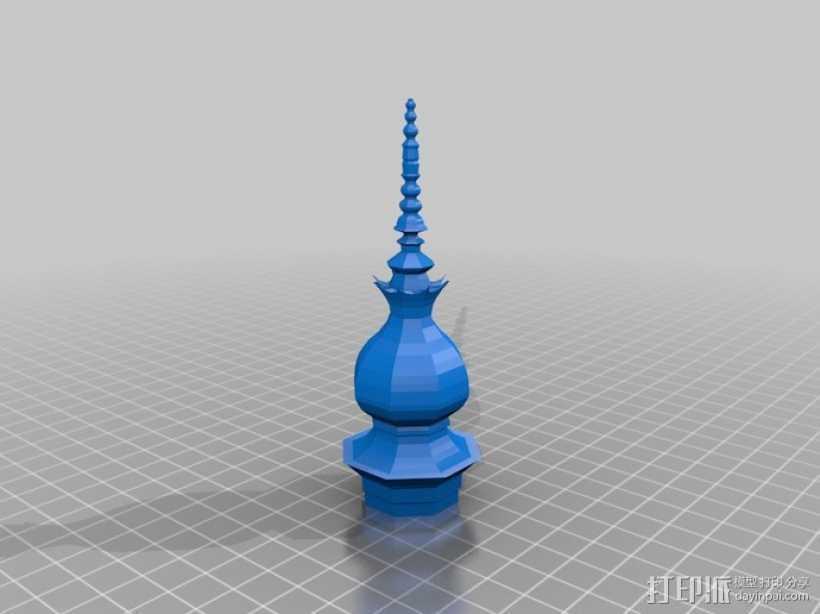 月亮公园 塔 3D打印模型渲染图