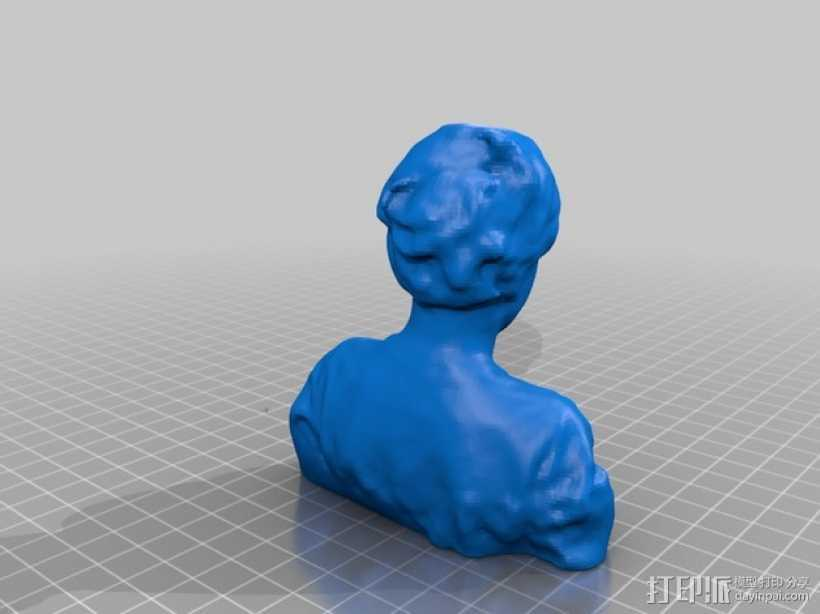 Wess半身像 3D打印模型渲染图