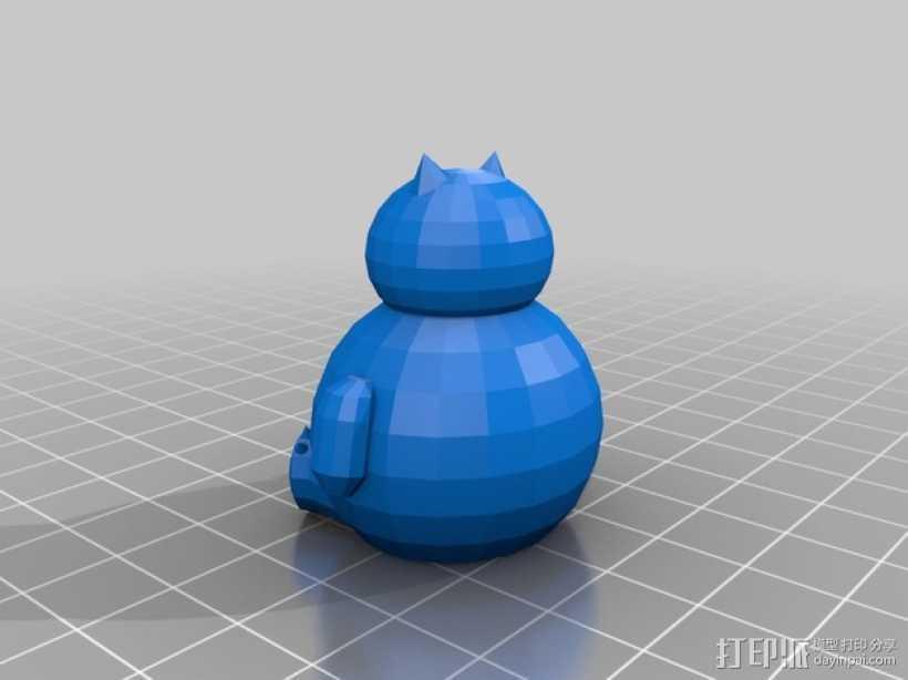 卡比兽 3D打印模型渲染图