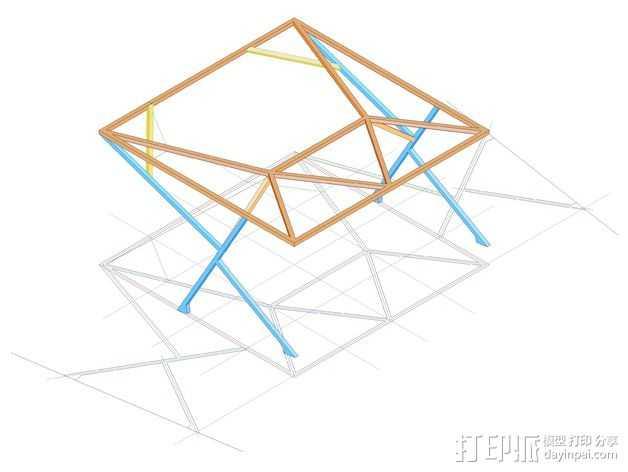 汽车展示厅建筑结构 3D打印模型渲染图