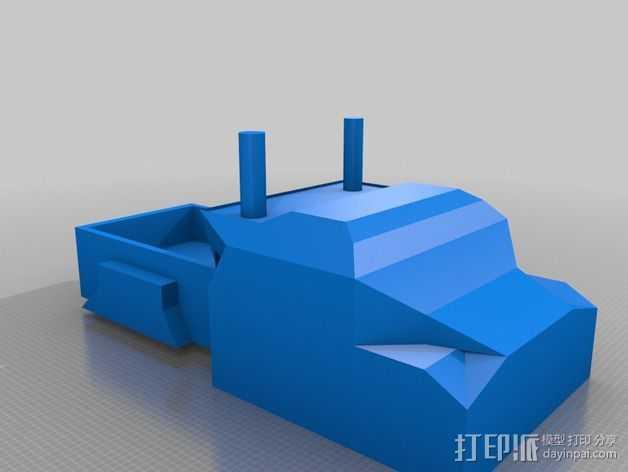 大卡车 3D打印模型渲染图