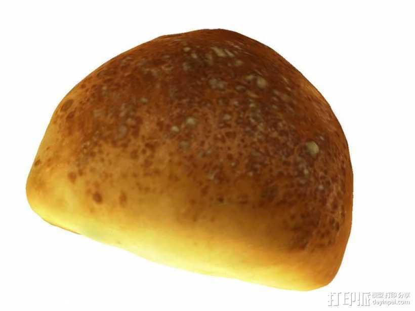 黄油面包 3D打印模型渲染图