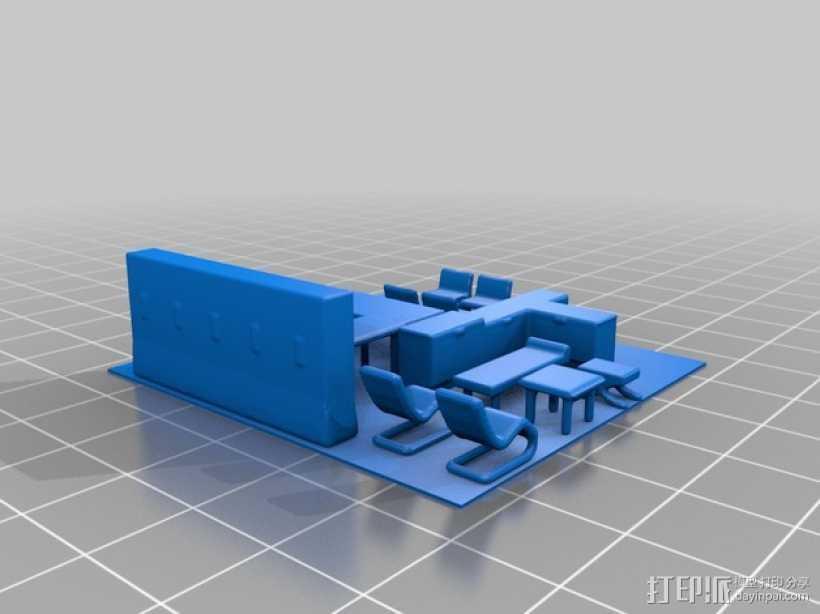 玻璃屋  3D打印模型渲染图