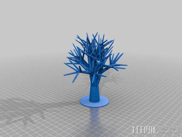 首饰树 3D打印模型渲染图