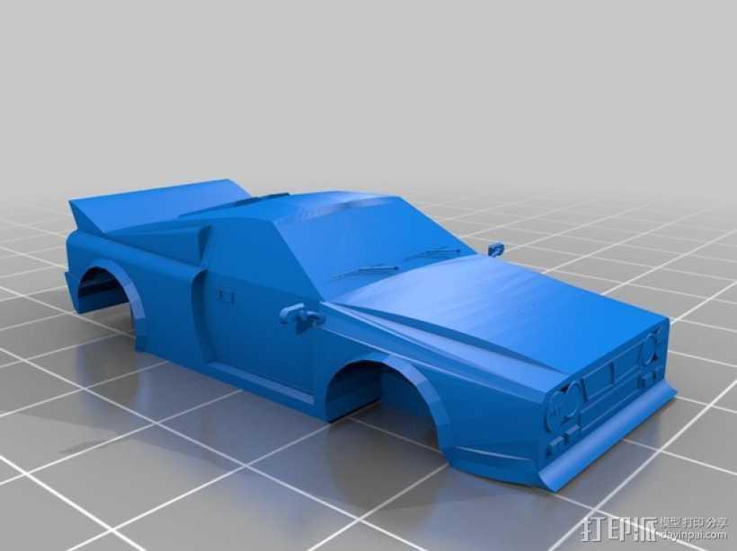 Lancia 037蓝旗亚赛车 3D打印模型渲染图