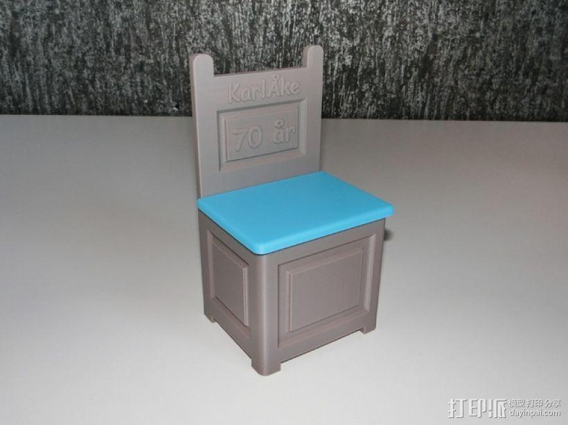 旧式椅子 3D打印模型渲染图