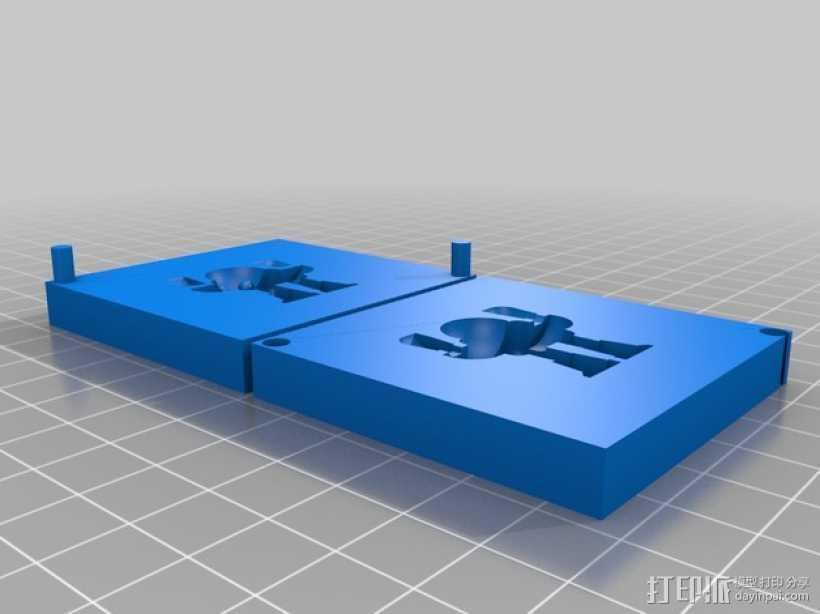 创客机器人模具 3D打印模型渲染图