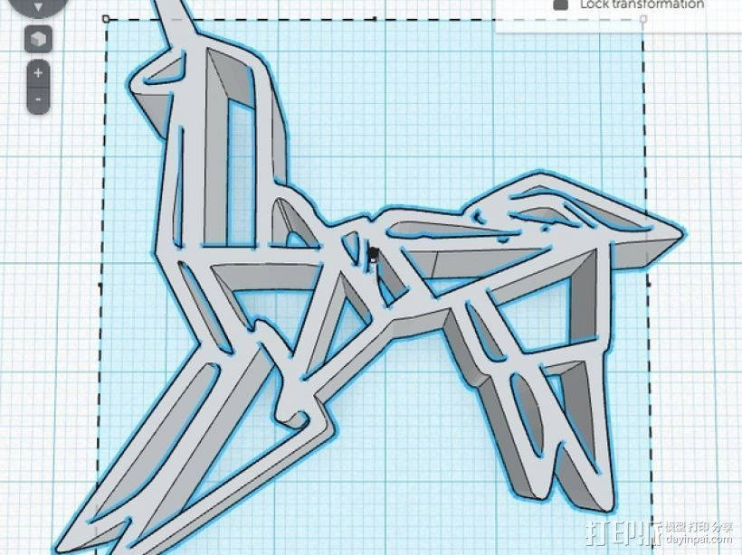 银翼杀手纸折独角兽 3D打印模型渲染图