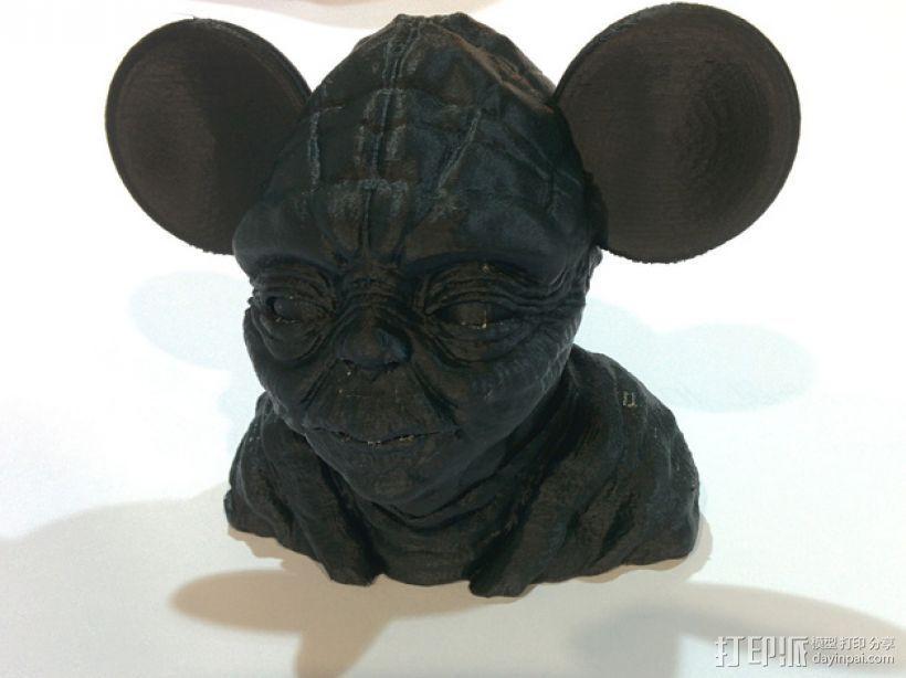 老鼠尤达 3D打印模型渲染图