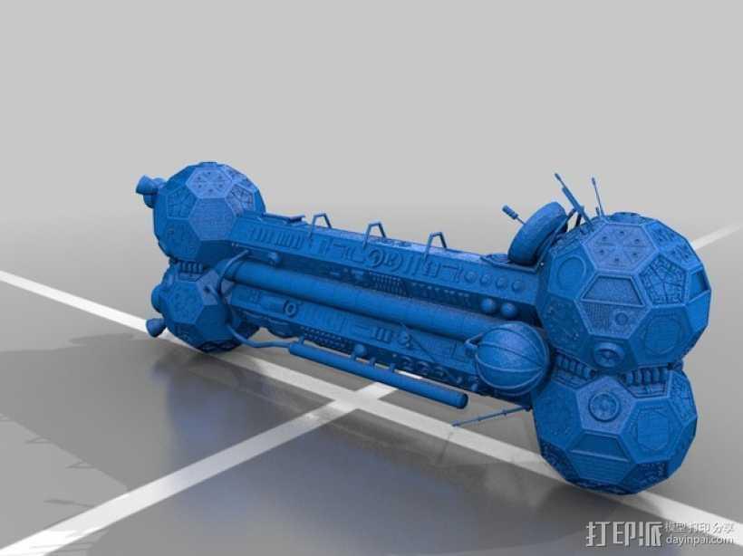 人造卫星 3D打印模型渲染图