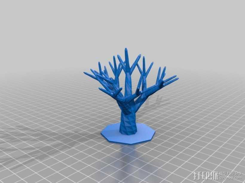 树 3D打印模型渲染图