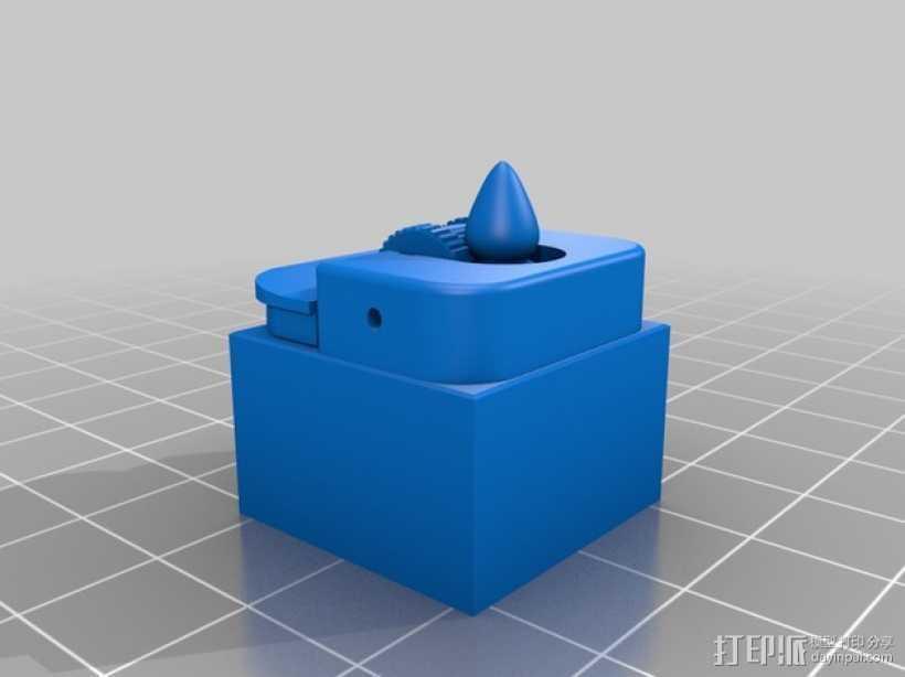 比克打火机 3D打印模型渲染图