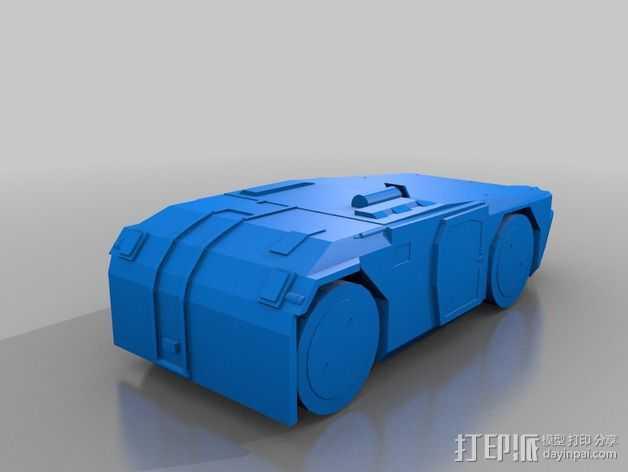 重型装甲坦克 3D打印模型渲染图
