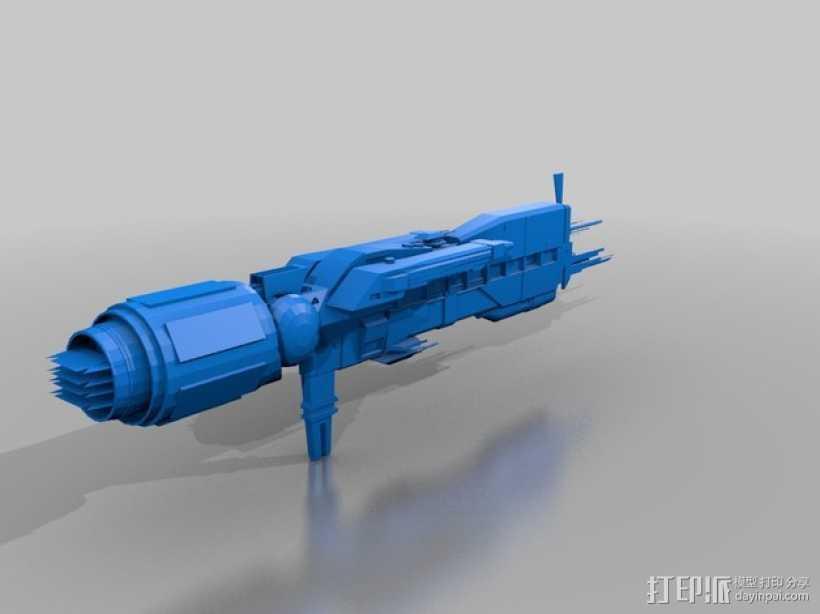 USS Sulaco太空战舰 3D打印模型渲染图