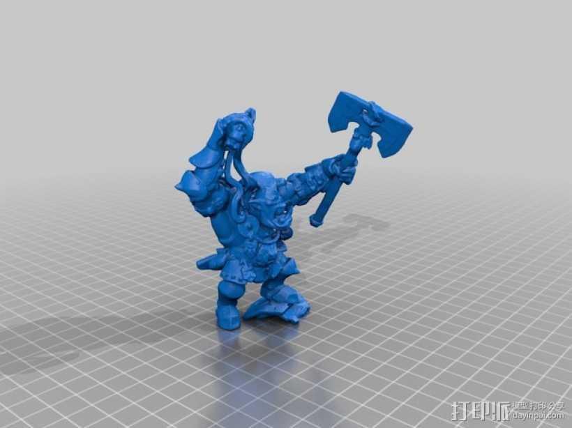 半兽人 3D打印模型渲染图