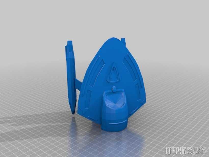 星际争霸新星级星舰 3D打印模型渲染图