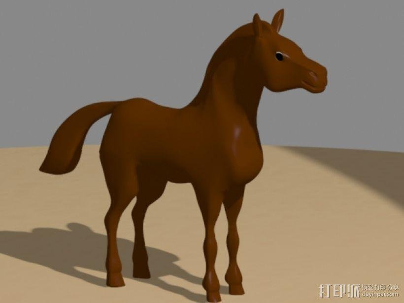 骏马 3D打印模型渲染图