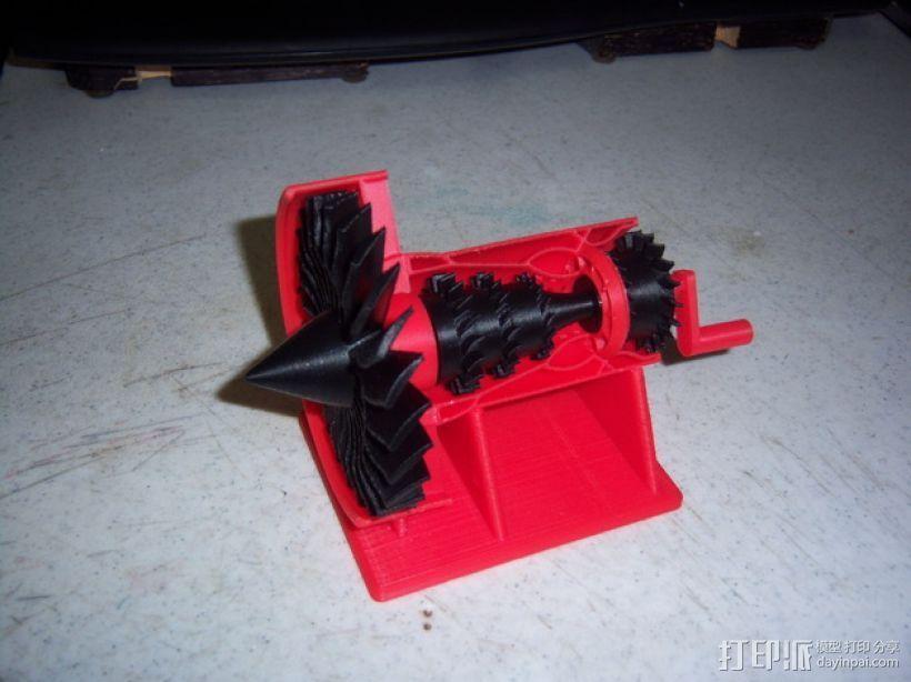 喷气发动机支架 3D打印模型渲染图