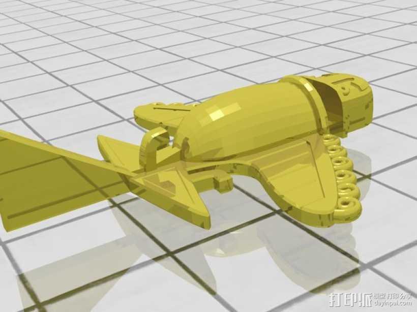 Ancient Alien 飞机  3D打印模型渲染图