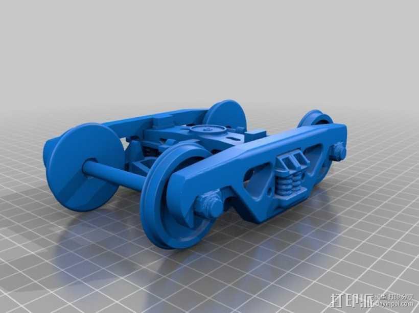 铁路转向架 3D打印模型渲染图