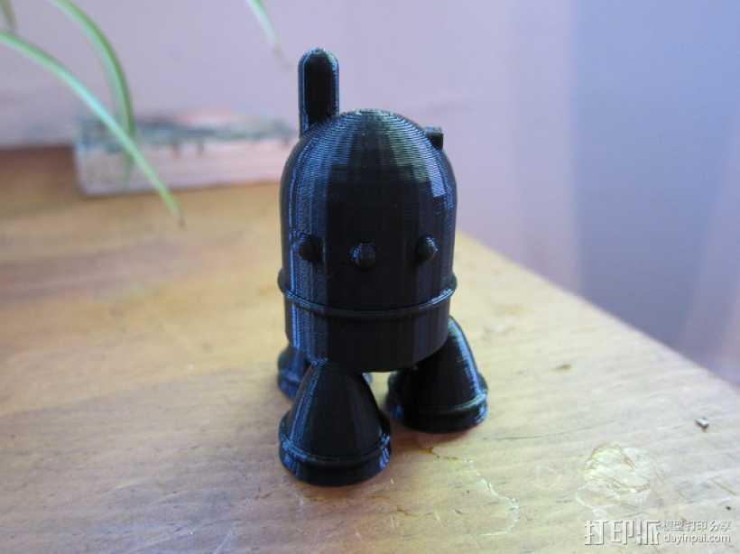 可爱的机器人 3D打印模型渲染图