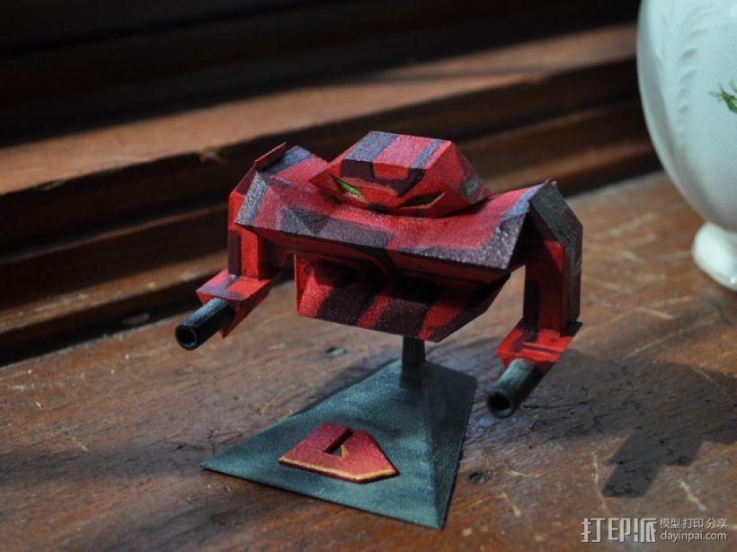 机器人浩克 3D打印模型渲染图