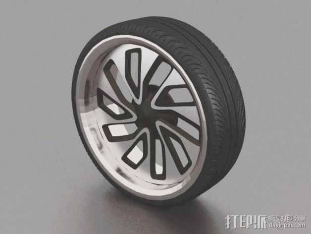 New Lada 合金车轮 3D打印模型渲染图