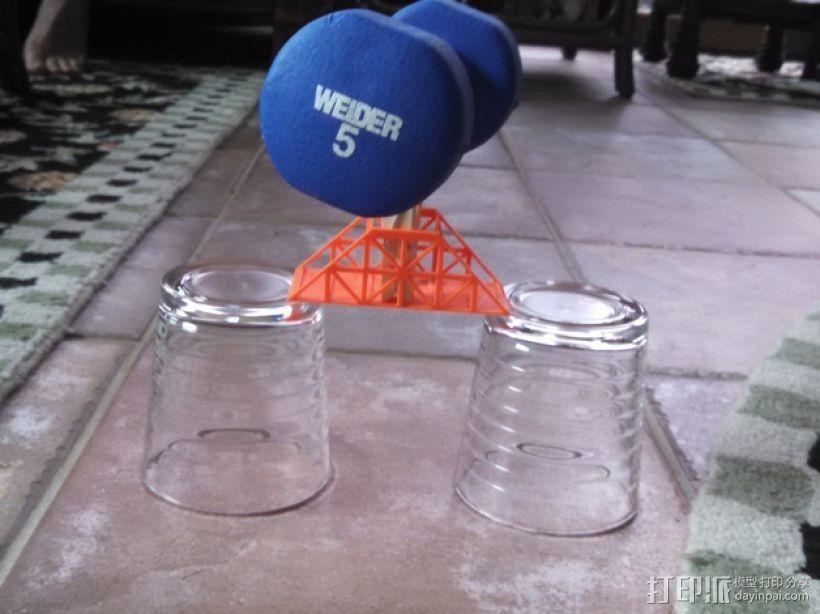 桁架桥 3D打印模型渲染图