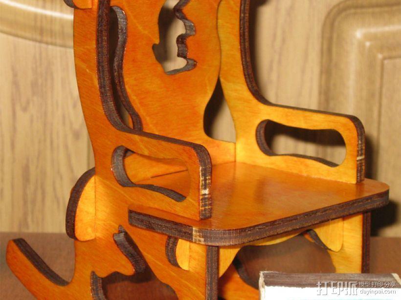 玩具椅子 3D打印模型渲染图