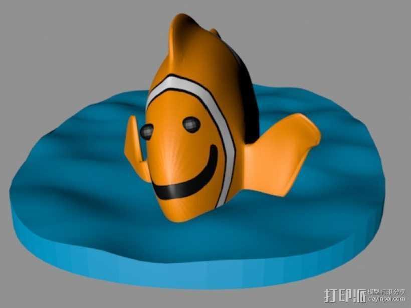 小丑鱼 3D打印模型渲染图