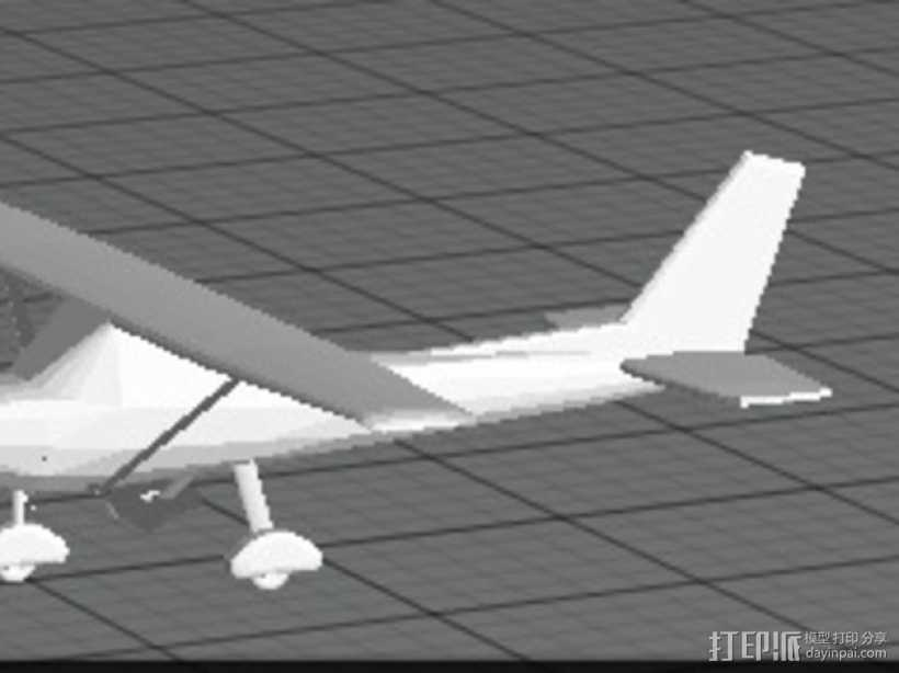 Cessna 172R塞斯纳172R飞机模型 3D打印模型渲染图
