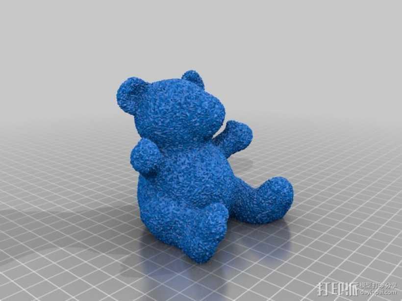 毛绒小熊 3D打印模型渲染图