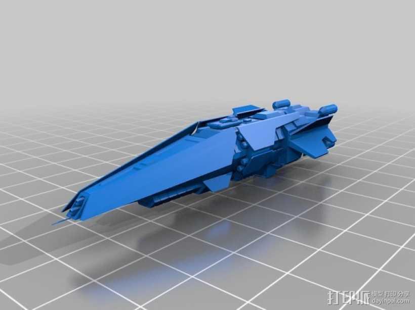 光晕 驱逐舰 3D打印模型渲染图