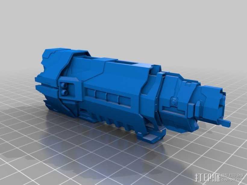 光晕 巡洋舰 3D打印模型渲染图