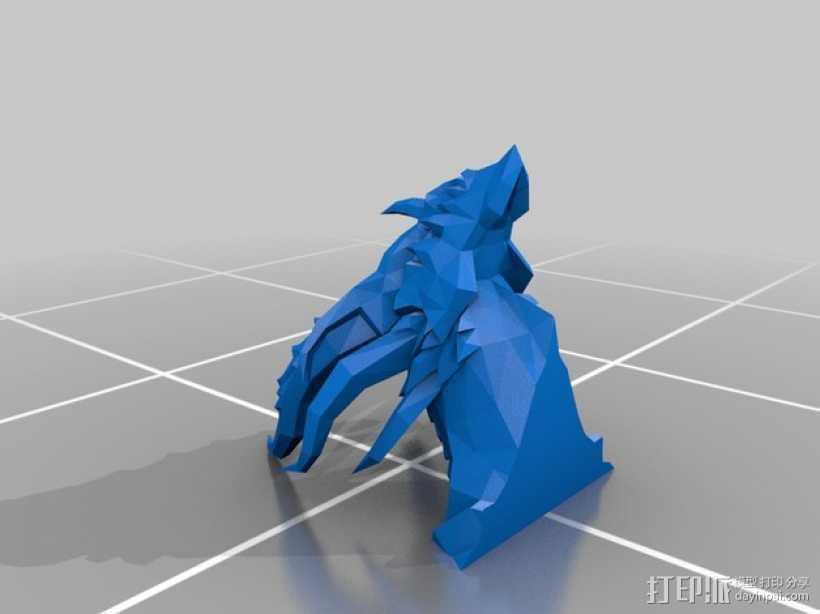 死亡之翼巨龙 3D打印模型渲染图