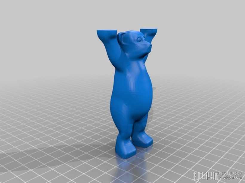 巴迪熊 3D打印模型渲染图