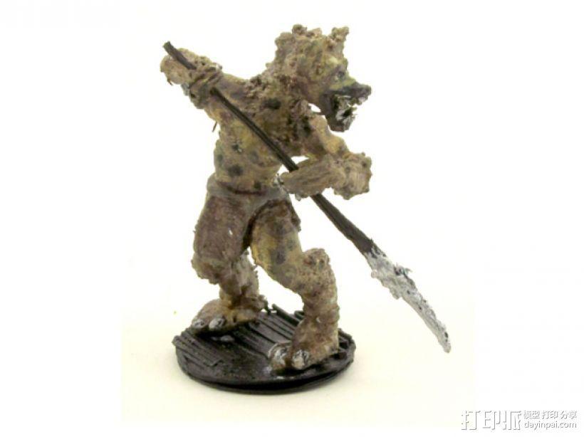 豺狼战士 3D打印模型渲染图