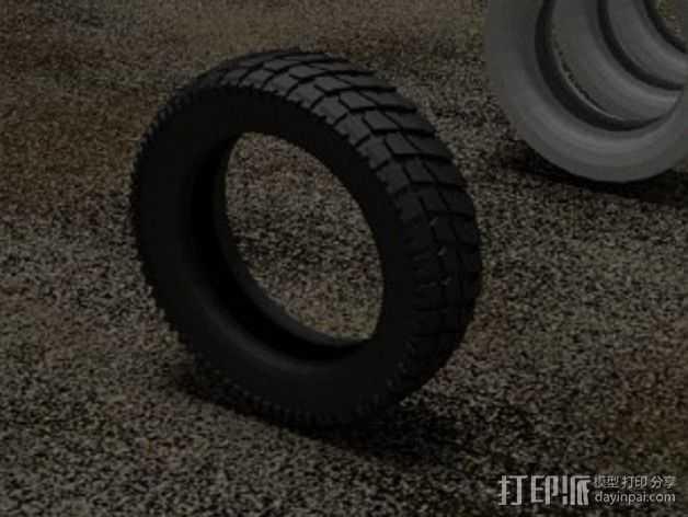 轮胎  3D打印模型渲染图