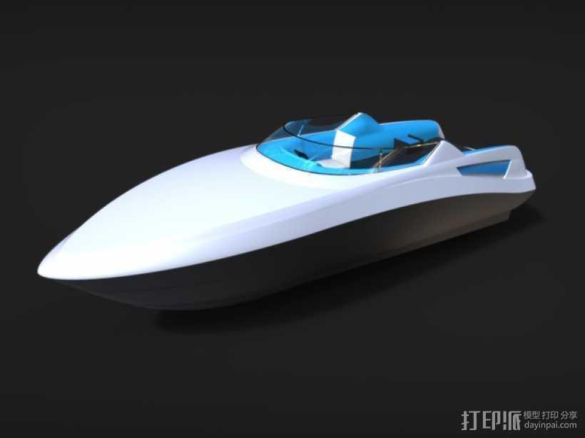 运动艇 3D打印模型渲染图