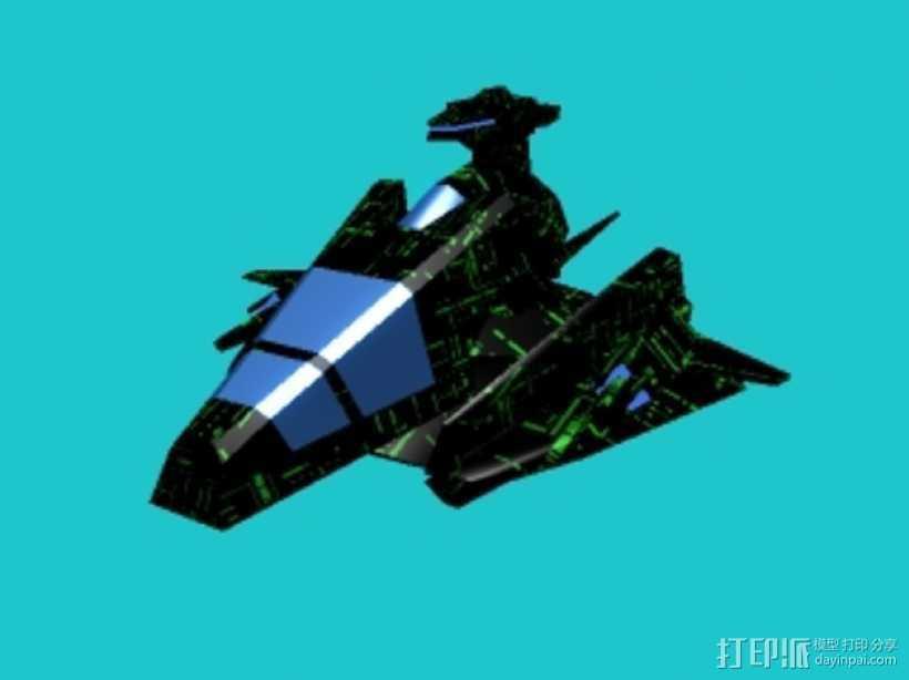 隐形战斗机飞船 3D打印模型渲染图