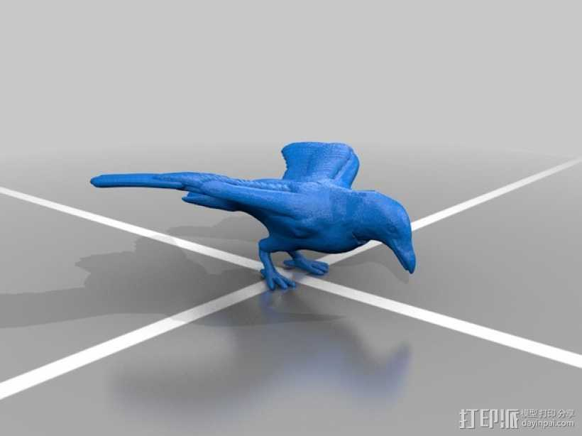 Diaval乌鸦 3D打印模型渲染图