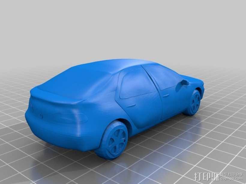 Renault Laguna II雷诺拉古娜汽车 3D打印模型渲染图