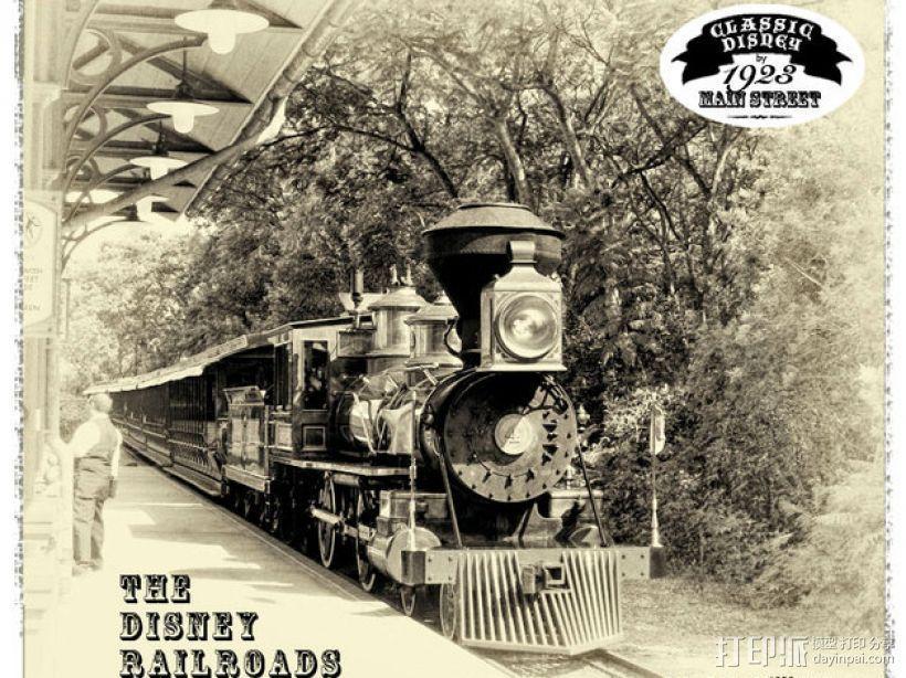 迪士尼蒸汽火车 3D打印模型渲染图