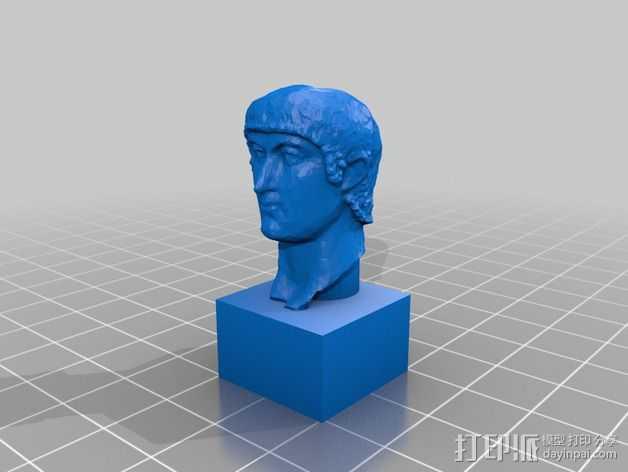 康士坦丁半身像  3D打印模型渲染图